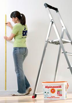 Die richtige menge wandfarbe kaufen bauen renovieren - Quadratmeter wand berechnen ...