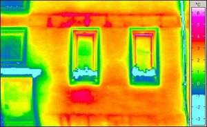 gelbe thermographie farbe