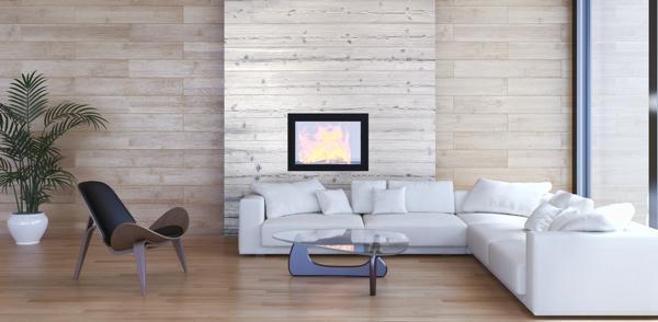 Holz verkleidungen zweifarbig gestalten bauen - Wandgestaltung zweifarbig ...