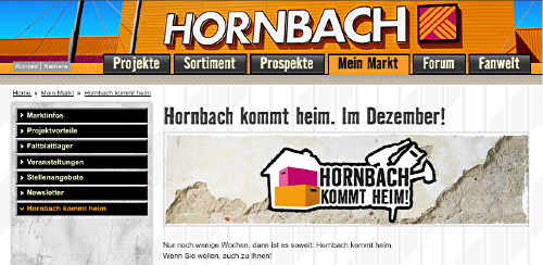hornbach kommt ins haus szene news f r heimwerker. Black Bedroom Furniture Sets. Home Design Ideas