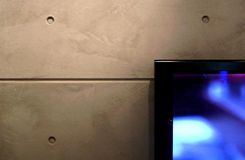 betontapete beton tapete mit fernseher im vordergrund koln
