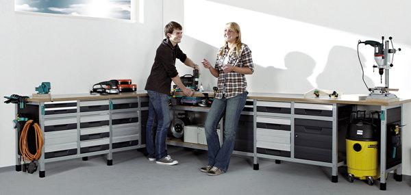 werkstatt einrichtung von wolfcraft hobby news f r heimwerker. Black Bedroom Furniture Sets. Home Design Ideas