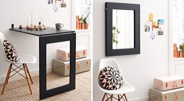Klapptisch für küche  Anleitung: Klapptisch mit integriertem Spiegel bauen | DIY-Info
