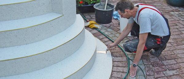 Super Außentreppe sanieren mit Marmorgranulat | Bauen & Renovieren HU65